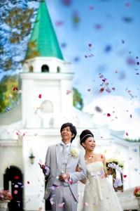 celebration after wedding ceremony