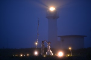 Pre wedding with night scene in Hokkaido