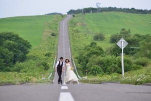 Hokkaido Niseko Prewedding shooting on the road