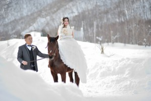 Pre wedding with house in Hokkaido