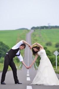 Hokkaido Niseko Prewedding Love Shape