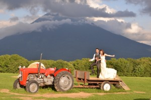 Unique pre wedding in Hokkaido by M and M company