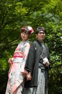 Fukuoka Mojiko prewedding kimono outdoor view shooting
