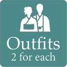 2 outfits for each of bride and groom for pre wedding