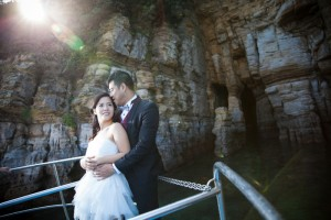 Dramatic pre wedding at Nagasaki by Saki wedding