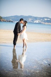 Cute pre wedding at Iki Island by Saki wedding