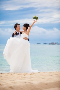 Beach resort wedding Okinawa