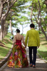 The road of Zakimi Castle prewedding photos shooting