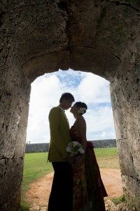 Okinawa Zakimi Castle prewedding photos shooting