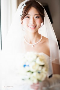 2014-03-23-大森様-Kafuu Wedding Ceremony bride closeup