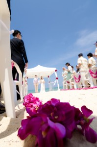 Okinawa wedding ceremony snapshot highlight by Kafuu Wedding