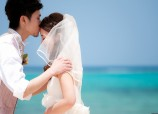 Okinawa wedding photos shooting with couple closeup highlight by Kafuu Wedding