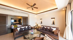 Kafuu Resort Fuchaku Condo Hotel Living Room