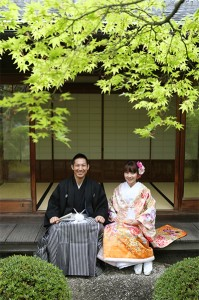 traditional wedding at Japanese tea house
