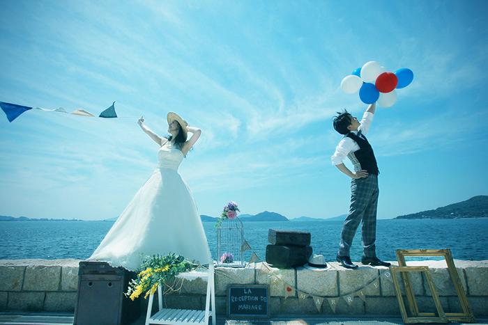 Pre wedding at beach in summer