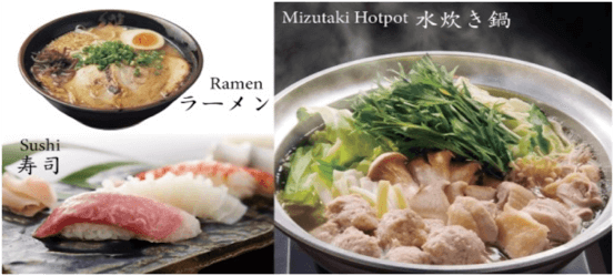 Popular local food of Fukuoka