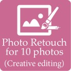 Photo retouch for 10 pictures