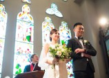 Wedding dress and tuxedo