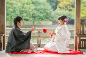 Traditional scene offered by Nara, Japan