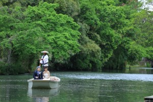 river boat trip in Yanagawa city