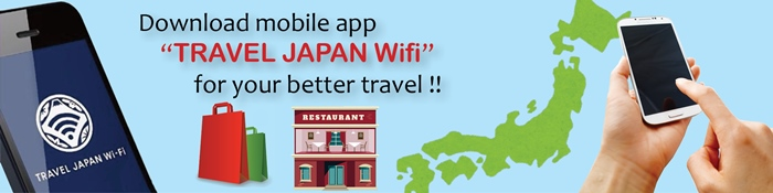 Mobile app for free wifi in Japan