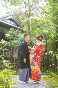 Wearing Kimono at Yusentei