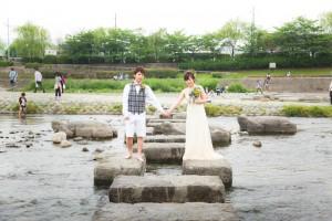 Snap shot at Kamogawa