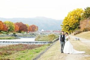Autumn scenery of Kamogawa