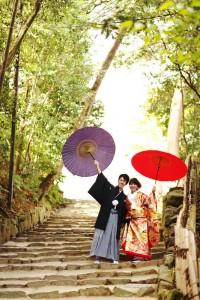 Japanese kimono and traditional unbrella