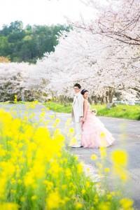 couple in flower scene