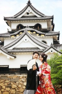 Snap shoot in front of Japanese castle