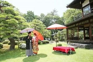 walking in Japanese garden