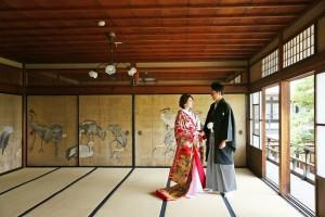Indoor of Japanese garden in Shiga prefecture