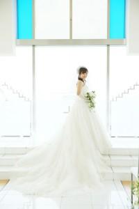 Bride standing at Chapel