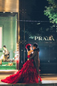 Pre wedding in the night