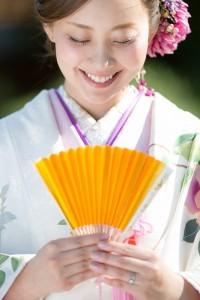 Beautiful bride wear on Kimono