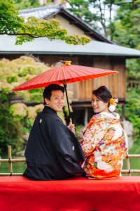 Pre wedding in Japanese garden