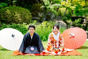 Authentic Japanese wedding outfits