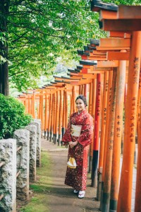 casual kimono for pre wedding and engagement