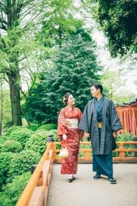 a couple wear kimono