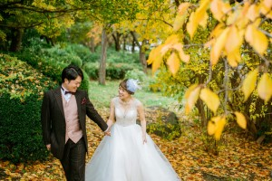 pre wedding in Japanese autumn
