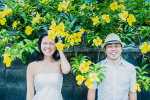 Pre wedding with flower