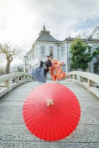 Red traditional umbrella