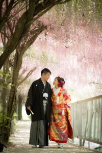 Japanese style wedding photo