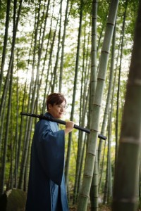 Samurai in Bamboo forest
