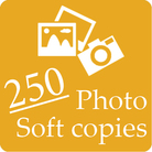 You will get 250 photo soft copies