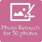 Photographers do photo retouch for 50 photos