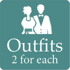 Pre wedding packages include 2 western outfits for each