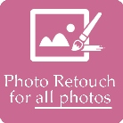 Photographer do photo retouch for all photos