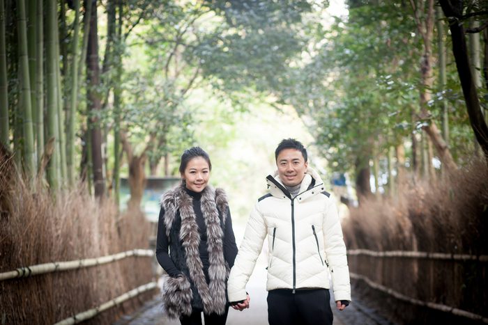 couple in Arashiyama